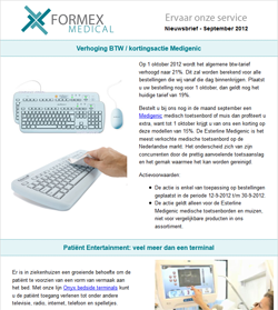 Nieuwsbrief September 2012